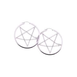 Wildcat Paar Ohrhänger Ohrringe Pentagram Chain Hoops