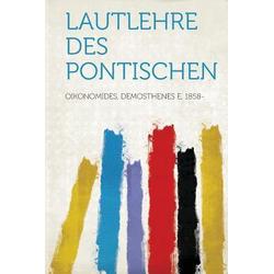 Lautlehre Des Pontischen als Buch von