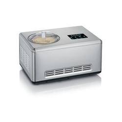 Severin Eismaschine mit Kompressor Joghurtfunktion 2 Schüsseln 2L