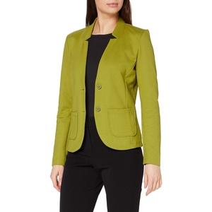 TOM TAILOR Damen Basic Jersey Blazer, Grün (19651-wood Green), S