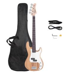 Glarry E-Bass GP, Elektrobass E-Bass GP Bassgitarre E Bass mit Tragetasche