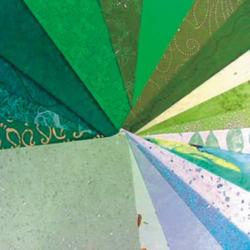 Bastelpapier A4 20 Bogen grün sortiert