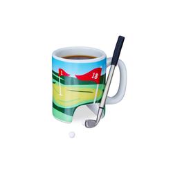 relaxdays Tasse Golftasse mit Schläger, Keramik