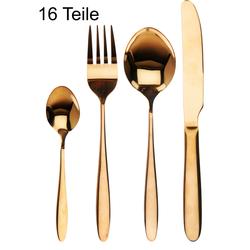 Tafelbesteck Gold / Messing - Besteckset - Besteck 16 Teile