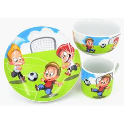 Retsch Arzberg Kindergeschirr-Set Fußball (3-tlg), Porzellan