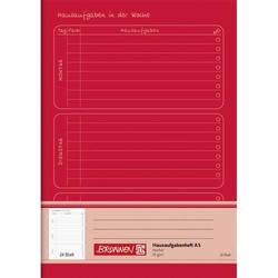 Hausaufgabenheft A5 24 Blatt rot