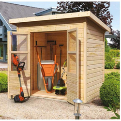 Kleines Gartenhaus aus Holz 2,22m² Merseburg 2 - Karibu