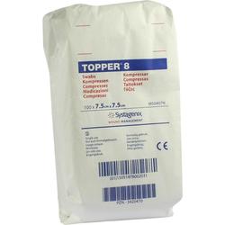 Topper 8 Kompr.7,5x7,5 cm Unsteril