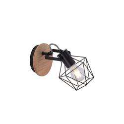 Leuchtendirekt Wandleuchte Jaro mit Holzdekor, 21 cm