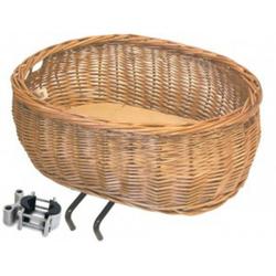 Basil Fahrradkorb Vorderrad-Tierfahrradkorb Basil Pluto naturfarbig