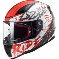 Naughty Helm, weiss-rot, S