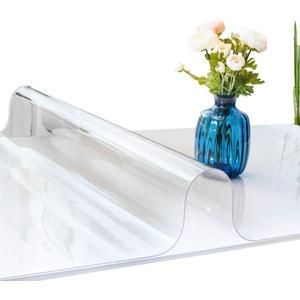 ANRO Tischfolie durchsichtig abwaschbar 2mm Transparent Tischdecke Weich PVC Folie 50x50cm Viele Größen (1000)