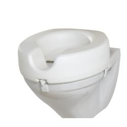 WENKO Secura WC Sitz-Erhöhung, 150 kg Tragkraft, Entlastet Hüfte und Knie durch die erhöhte Sitzposition, Maße: 41,5 x 17 x 44 cm, Farbe: weiß
