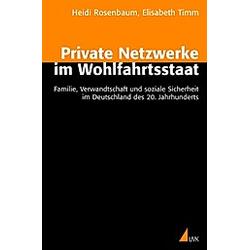 Private Netzwerke im Wohlfahrtstaat. Elisabeth Timm  Heidi Rosenbaum  - Buch