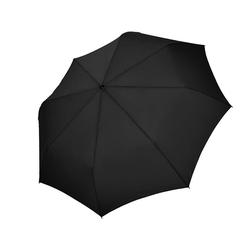doppler® Taschenregenschirm Carbonsteel Magic XM, uni black, mit übergroßem Schirmdach