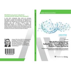 Modellierung einer tubulären Vanadium/Luft Redox Flow Batterie als Buch von Leon Gosh