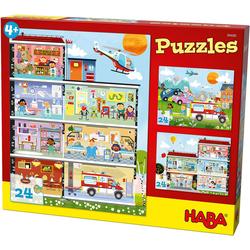 Haba Puzzle Puzzleset 3 x 24 Teile - Kleines Krankenhaus, Puzzleteile