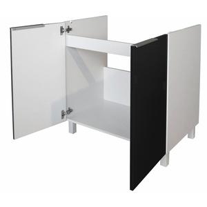 Berlioz Creations CE8BN Spülen Unterschrank Hochglanz Schwarz 80 x 52 x 83 cm