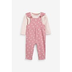 Next Latzhose Latzhose und T-Shirt im Set (2-tlg) rosa 110-116