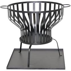 Gardissimo Feuerkorb Ø 60,5 cm Feuerschale mit Bodenplatte anthrazit