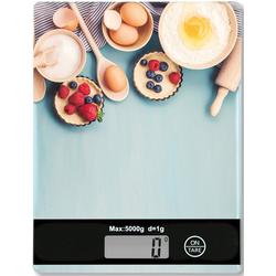 KESPER for kitchen & home Küchenwaage, mit LCD-Display, bis 5 kg bunt