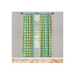Gardine Vorhang für Wohnzimmer Schlafzimmer Dekor, Abakuhaus, Zitrone In Scheiben geschnitten und ganze Zitronen Juicy 150 cm x 175 cm