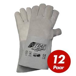 NITRAS Schweisserhandschuhe Vulcanus 20035 5-Finger Schweiß-Handschuhe - 12 Paar - Größe:10