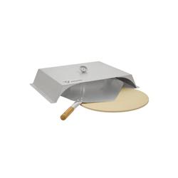 BBQ-Toro Gasgrill BBQ-Toro Edelstahl Pizzaaufsatz Set für Gasgrill, Pizzastein, Schaufel