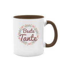 Shirtracer Tasse Beste Tante Tasse - Tasse für Tante - Tasse zweifarbig - Tassen, tasse 400ml