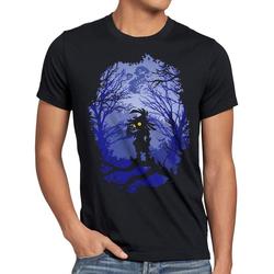style3 Print-Shirt Herren T-Shirt Skull Kid majoras mask n64 maske S