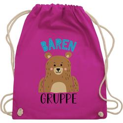 Shirtracer Turnbeutel Kindergartengruppe - Bärengruppe - Kindergarten Geschenk - Turnbeutel, Kinder Outfit rosa