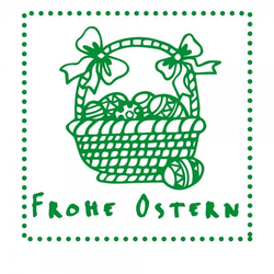 Ostern Holzstempel - Osterkorb (50x50 mm)
