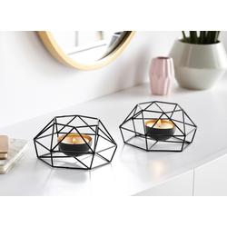 andas Teelichthalter, im Scandi-Stil schwarz Kerzenhalter Kerzen Laternen Wohnaccessoires Teelichthalter