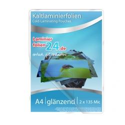 Kaltlaminierfolien A4, 2 x 150 Mic, glänzend (225 x 312 mm)