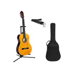 Gitarrenset Konzertgitarre 1/4, inkl. Gitarrentasche und Gitarrengurt natur