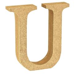"""VBS Buchstaben """"MDF"""" 8 cm x 1,5 cm bunt Buchstabe """"U"""""""