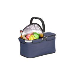 relaxdays Einkaufskorb Faltbarer Einkaufskorb mit Kühlfunktion blau