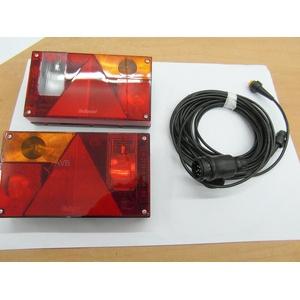 AVB Rücklichtpaket Aspöck Multipoint 1 mit RFS und NSL Kabel 13 pol. 4 m