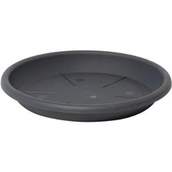 Dehner Blumentopf UntersetzerEolo, rund,Kunststoff grau Ø 56 cm x 7,5 cm