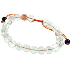 Guru-Shop Armreif Mala Buddha Armband Bergkristall, Handmala -..