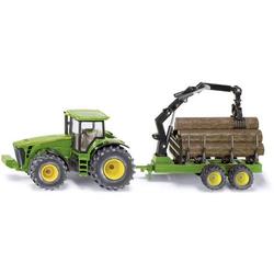 SIKU Spielwaren Traktor mit Forstanhänger 1:50