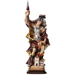 Heiliger Sankt Florian Figur Holz, geschnitzt handcoloriert 20 cm