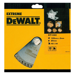 DeWalt Kreissägeblatt (1-St), Extreme Tauchkreissägeblatt DT1090 Holz Sägeblatt Ø165mm Kappsäge