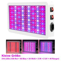 Rosnek Pflanzenlampe 216/312 LEDs LED Wachstumslampe Wuchs Vollspektrum Grow Pflanzenlicht, LED-Pflanzenwachstumslampe
