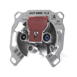 BK-Modem-Durchgangsdose 15dB 5-1218 MHz GUT MME 15