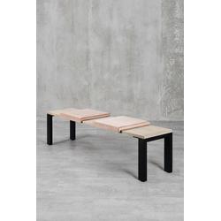 carla&marge Bankauflage Feels, Klemmkissen(2er Set),für eine Sitzbanktiefe von 37cm rosa