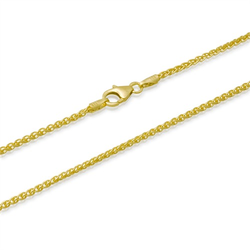 333er Goldkette: Zopfkette Gold 50cm