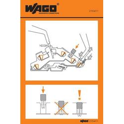 WAGO 210-411 Handhabungsaufkleber 100St.