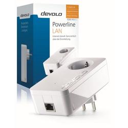 DEVOLO Powerline, 1xGB LAN, Steckdose, Netzwerk, range) LAN-Router