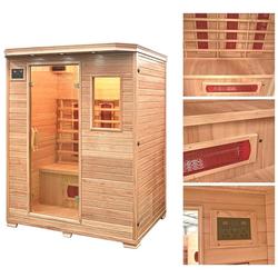 HOME DELUXE Infrarotkabine Redsun L, BxTxH: 153 x 110 x 190 cm, 40 mm, für bis zu 3 Personen